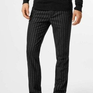 Michael Andrews Bespoke Tailored Charcoal Pinstrip
